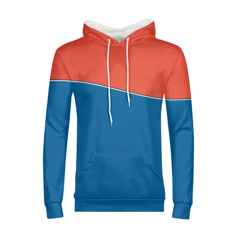 Two Tone Curve Mens Hoodie