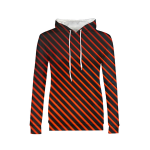 Red And Black Lines WOMENS Hoodie