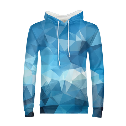 Blue Triangle Mens Hoodie