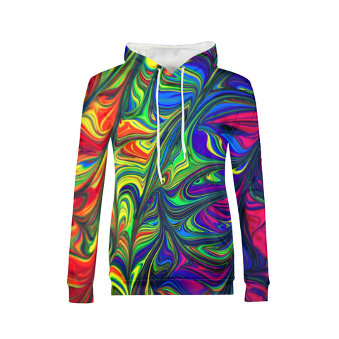 Crazy Colorful Women Hoodie