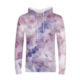 Purple Polygon Mens Hoodie