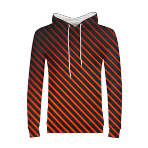 Red And Black Lines MENS  Hoodie