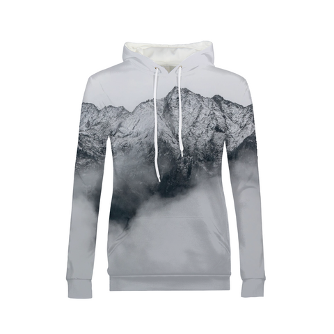 Gray Mountains Womens  Hoodie