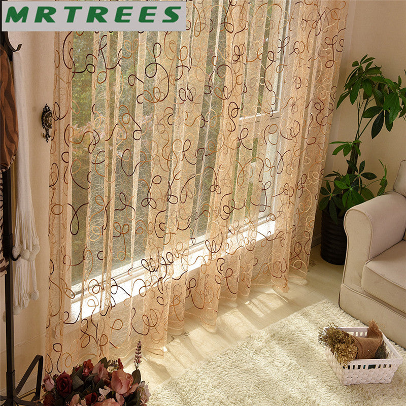 embroidered natural index curtains wave sheer