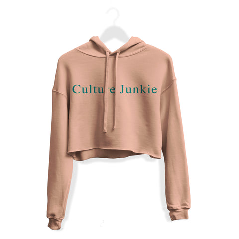 Culture Junkie Crop Hoodie - Georgia Peach