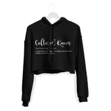 Cultured Queen Crop Hoodie - Black