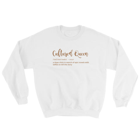 Cultured Queen Sweatshirt - White