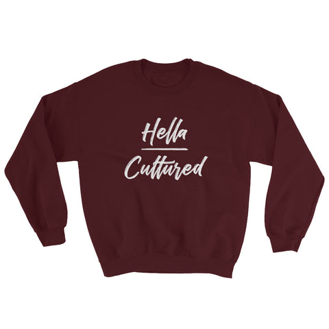 Hella Cultured Sweatshirt - Maroon