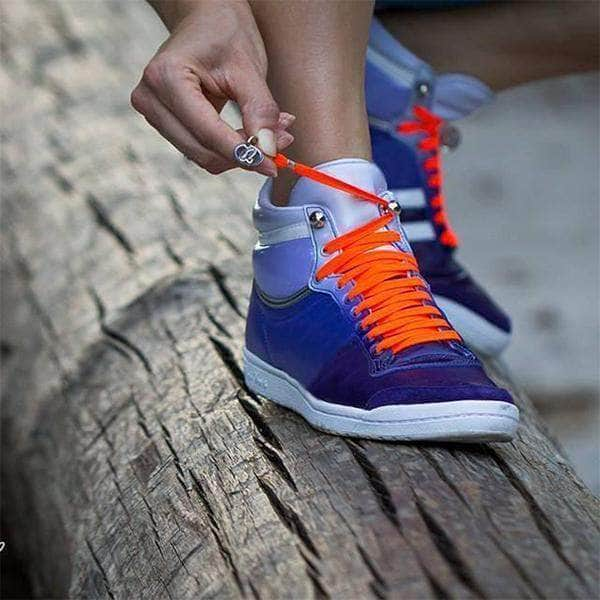 1a2417343675f5 One Handed No Tie Shoelaces For Kids And Adults - 1 Pair - Super Smart  Products. Hover to zoom