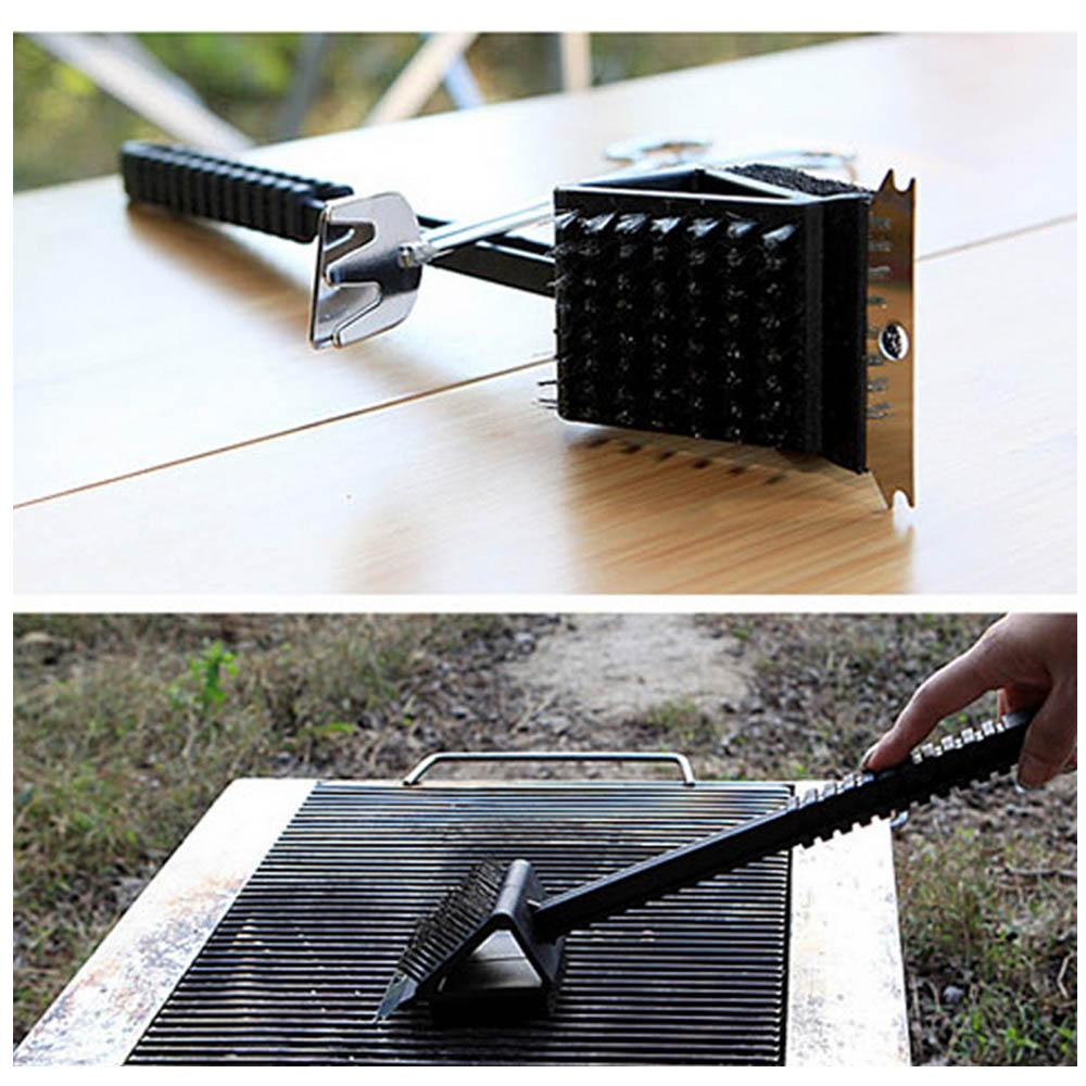 3 in 1 Long Handle Copper Wire BBQ Grill Brush– Super Smart Products