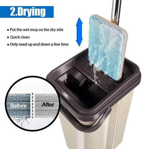 Flat Squeeze Mop With Bucket - Super Smart Products