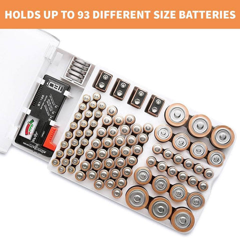Battery Organizer with Battery Tester - Super Smart Products