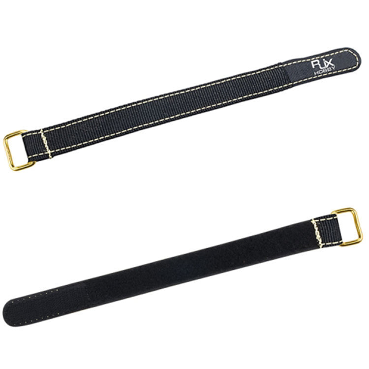 2Pcs RJXHOBBY 100-400mm Metal Buckle Non-Slip Battery Strap for Lipo Battery