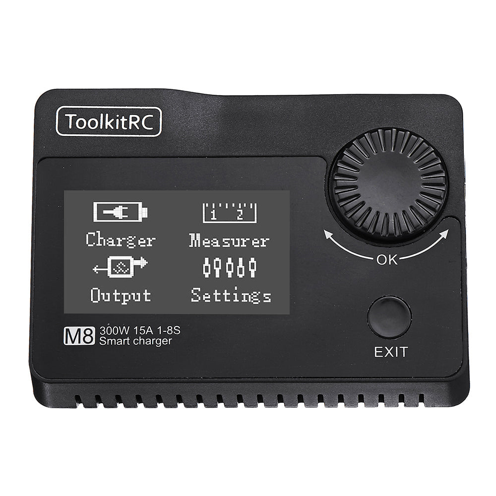 ToolkitRC M8 DC 300W 15A Battery Balance Charger Discharger for 2-8S Lipo Battery