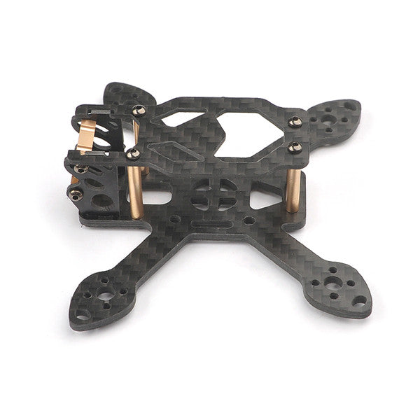 Happymodel Toad90 90mm Micro 3K Carbon Fiber FPV Racing Frame Kit with CNC Aluminum Camera Mount for RC Drone