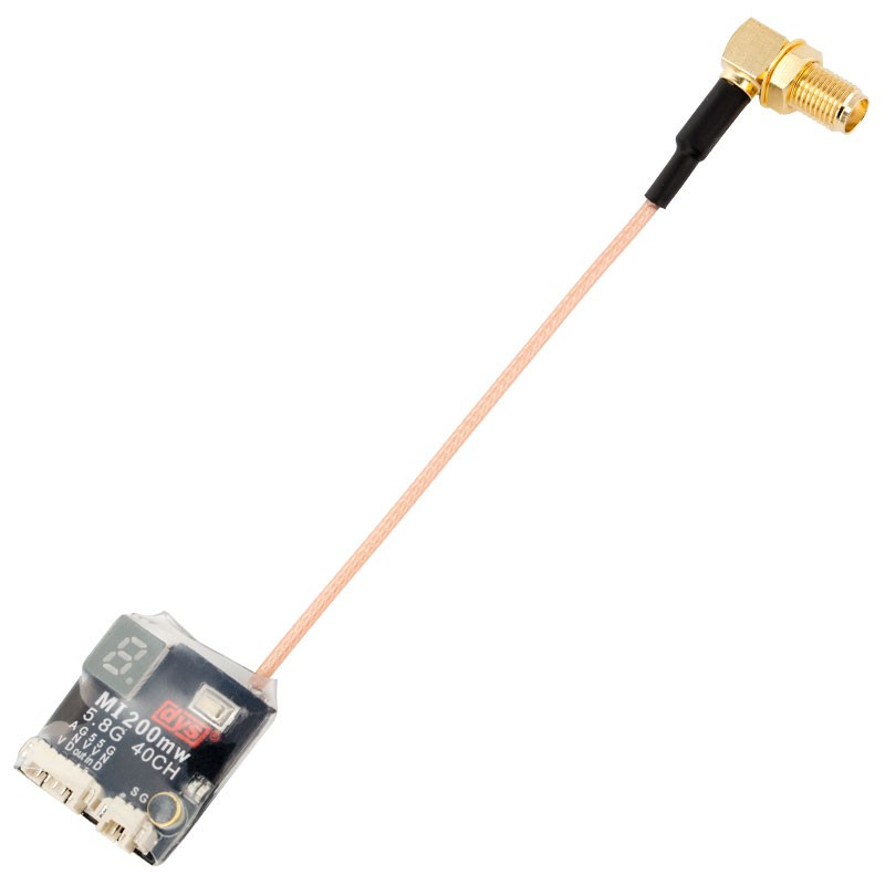 DYS MI200MW Pigtail VTX25mW/200mW Switchable 5.8G 40CH AV FPV Transmitter SMA For FPV RC Drone