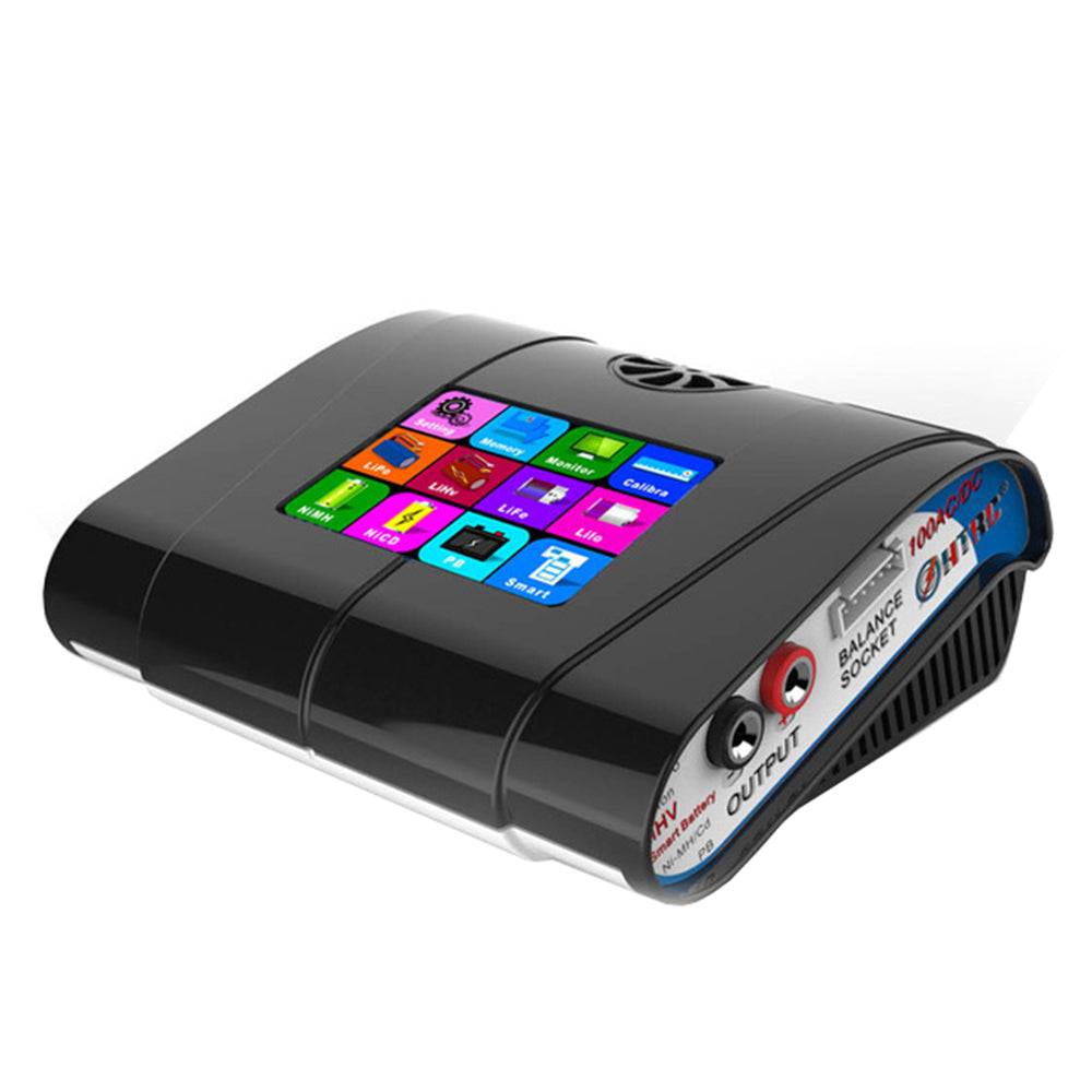 HTRC HT100 AC/DC 100W 10A 3.2 Inch Color LCD Touch Screen Battery Balance Charger Discharger