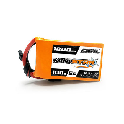 18.5V 1800mAh 100C Lipo Battery CNHL MiniStar 5S with XT60 Plug for RC Drone FPV Racing