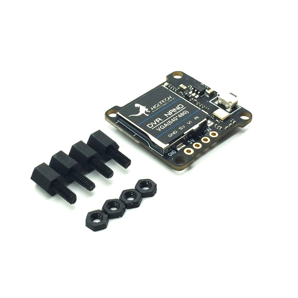 HGLRC DVR NANO Mini Video Recorder Support Record Playback SD Card For FPV Camera Monitor
