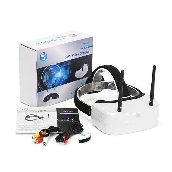 SJ RG01 5.8G 48CH Dual-Displays Diversity FPV Video Goggles w/ 3.7V 1500mAh Battery DVR
