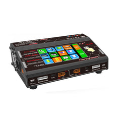 HTRC HT206 DUO AC/DC 2X200W 2X20A 4.3 Inch LCD Touch Screen Dual Battery Balance Charger Discharger