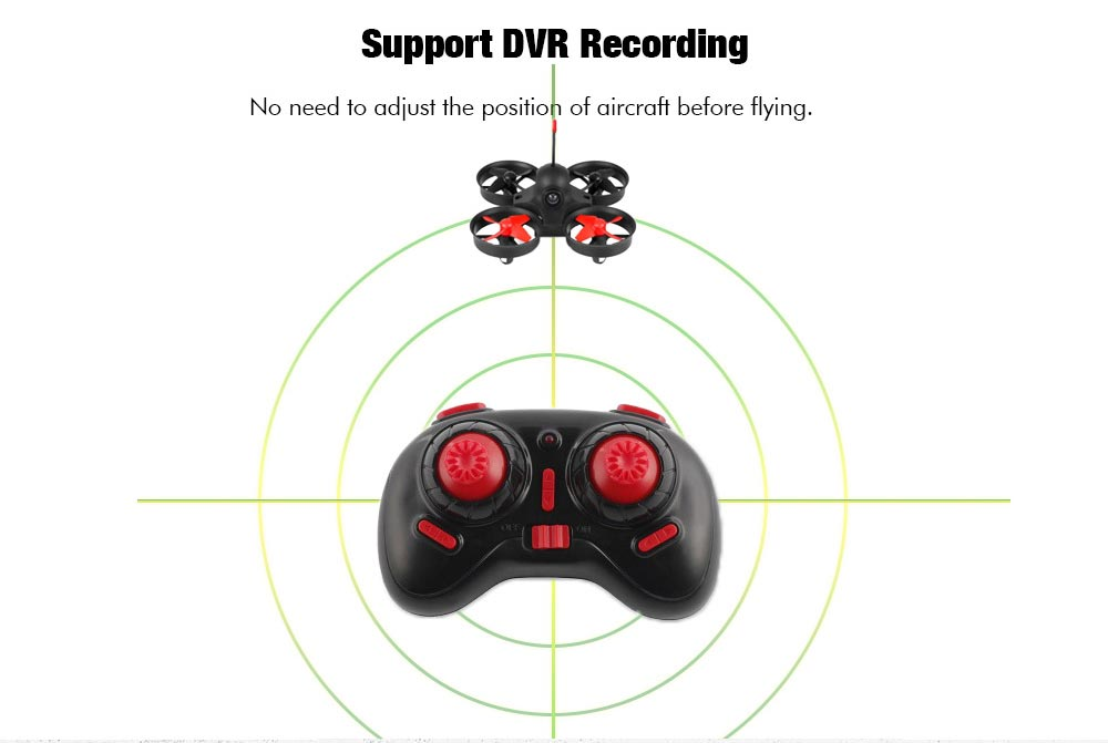 FB13S Micro FPV RC Drone with 5.8G 800TVL 40CH Camera / FB - 009 3 inch Goggles