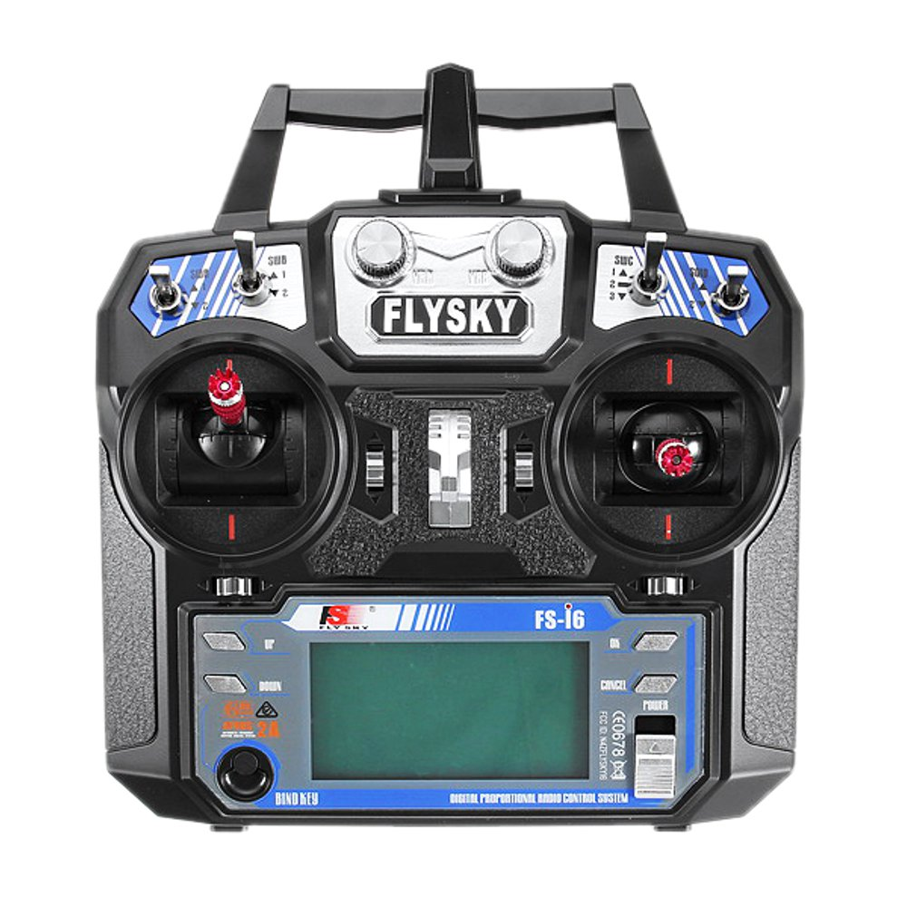 Remote Control Transmitter FlySky FS-i6 2.4G 6CH AFHDS With FS-R6B Receiver For RC FPV Drone - Mode 2