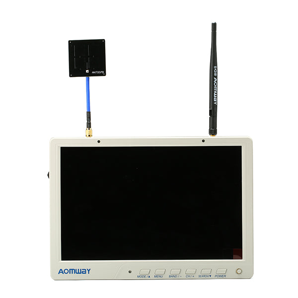 FPV HD Monitor 1920 x1200 with DVR Build in Battery For RC Aomway HD588 V2 10 Inch 5.8G 64CH Diversity
