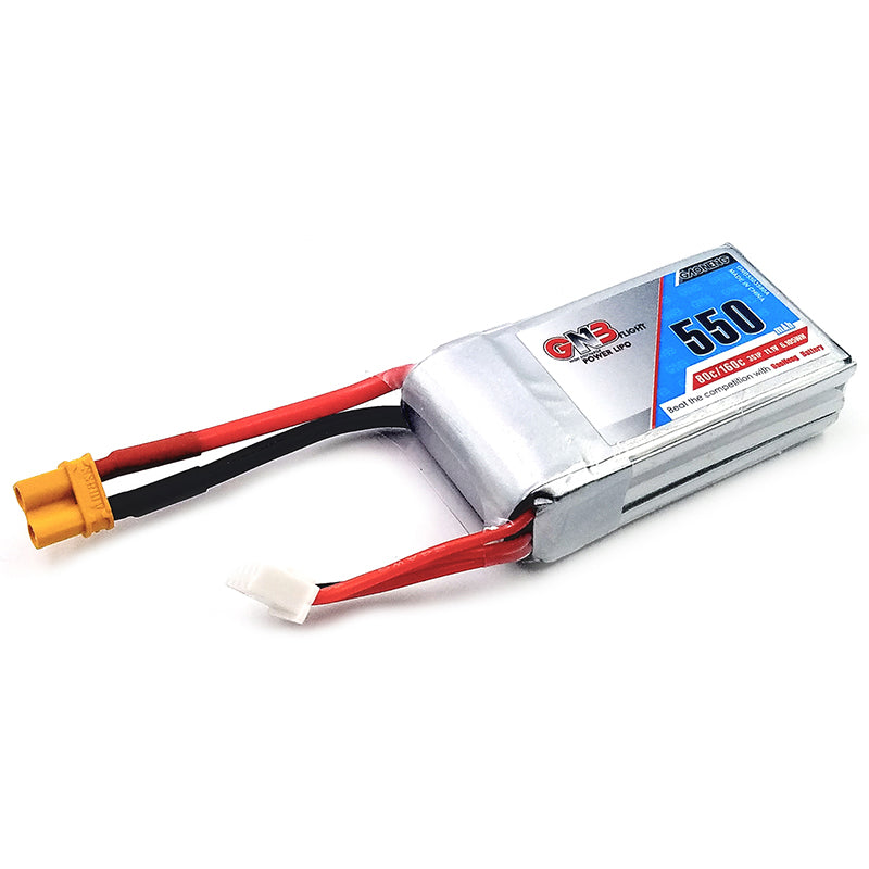 Gaoneng GNB 11.1V 550mAh 80/160C 3S Lipo Battery XT30 Plug For Eachine Lizard95 FPV Racer