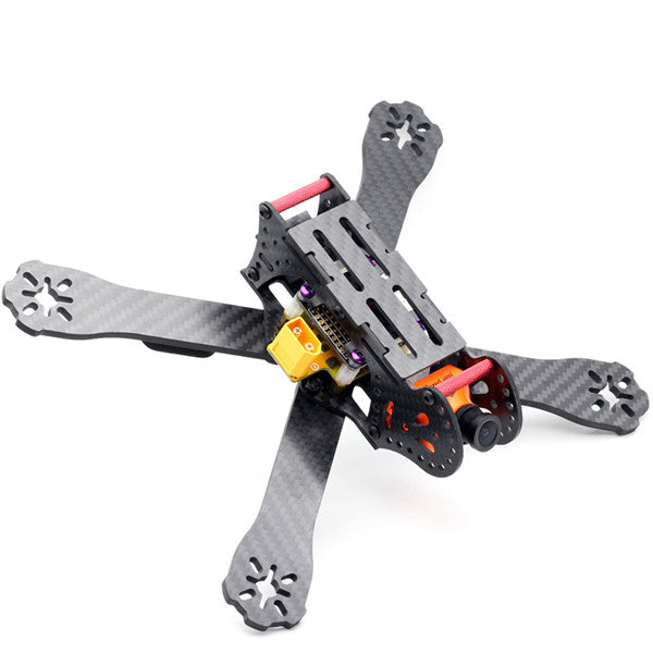 220mm Wheelbase 3K Carbon Fiber Racing Frame Kit 4mm Arm with PDB Board for RC FPV Racing Drone