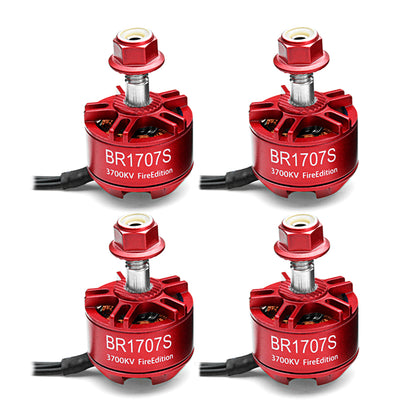4X Racerstar 1707 BR1707S Fire Edition 3700KV 2-3S Brushless Motor For RC Drone FPV Racing Frame - Drone 4 Racing Drone 4 Racing Default Title Drone For Racing
