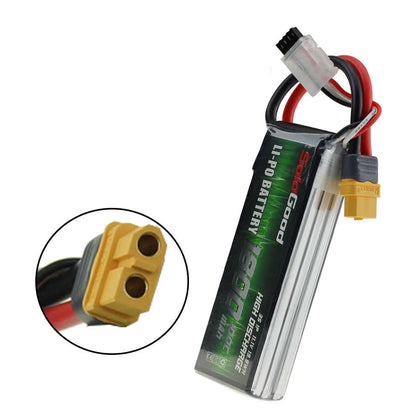 SoloGood 11.1V 1800mAh 100C 3S XT30 Plug Lipo Battery for Rc Racing Car Model Parts
