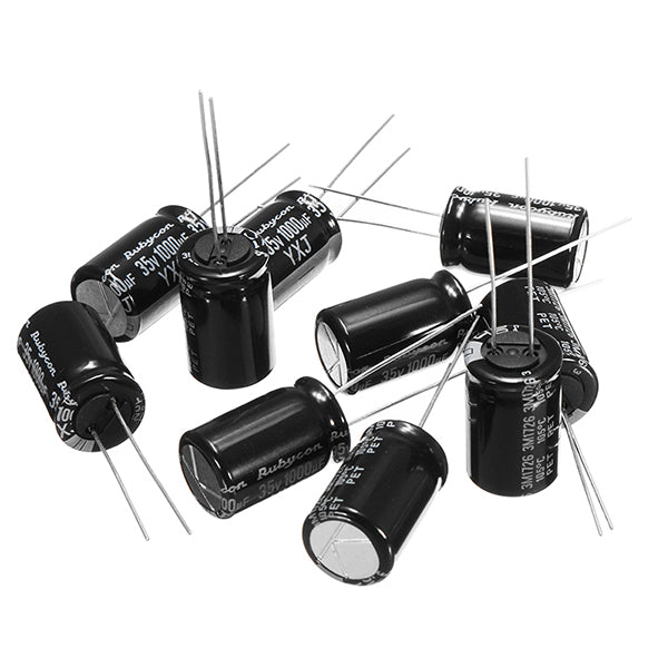 10 PCS 35V 1000UF Multirotor FM Series Capacitors 12.5x25mm for Bushless ESC