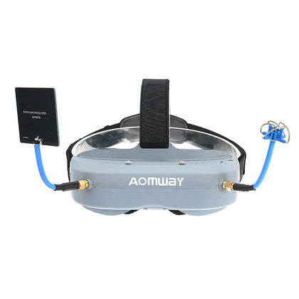 Aomway Commander Goggles V1 FPV 2D 3D 40CH 5.8G Support HD Port DVR Headtracker For RC Drone - Drone 4 Racing Drone 4 Racing Default Title Drone For Racing