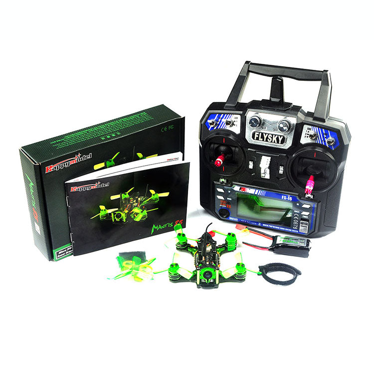 Happymodel Mantis85 85mm RC FPV Racing Drone RTF w/ Supers_F4 6A BLHELI_S 5.8G 25MW 48CH 600TVL