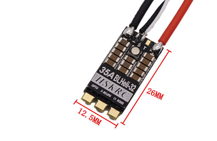 ESC with RGB LED for RC Drone FPV Racing HSKRC 35A BLheli_32 32Bit 2-6S Dshot1200 Brushless