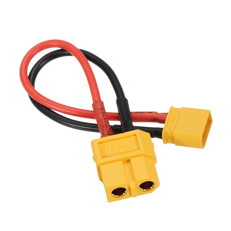 10cm 20AWG XT60 Female Plug to XT30 Male Plug Cable Adapter for Battery Charging