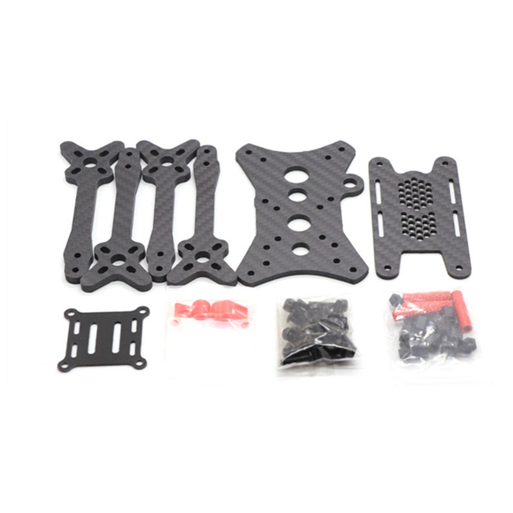 HSKRC Floss 2 215mm Wheelbase 4mm Arm 3K Carbon Fiber Frame Kit for RC Drone FPV Racing