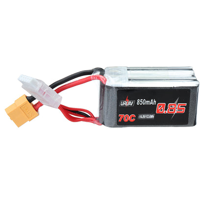 3Pcs URUAV 14.8V 850mAh 70C 4S Lipo Battery XT60 Plug for RC Drone FPV Racing