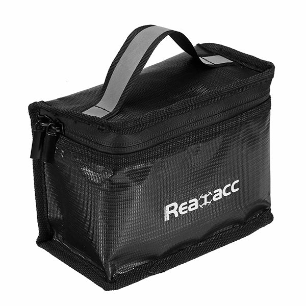 Realacc Fireproof Waterproof Lipo Battery Safety Bag(155x115x90mm) With Luminous Handle