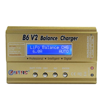 HTRC B6 V2 80W 6A Digital RC Battery Balance Charger Discharger for LiPo Battery