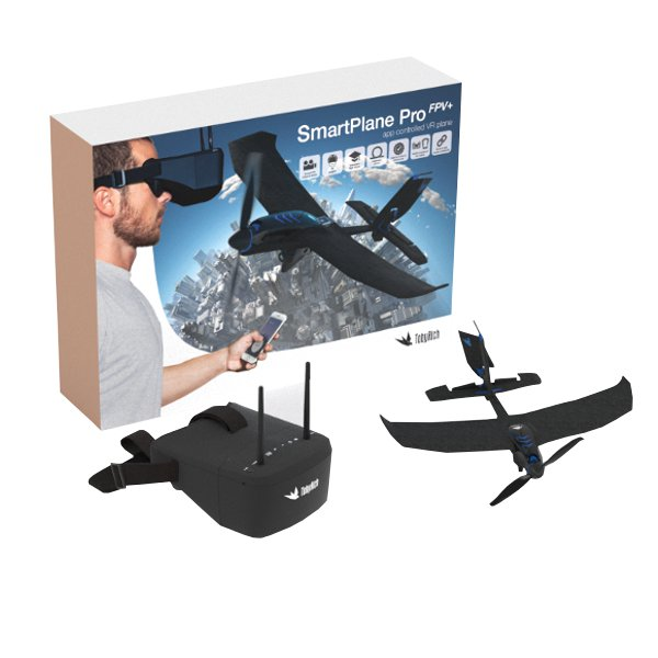 Tobyrich SmartPlane Pro Smartphone Controlled Airplane RTF With FPV Diversity DVR Goggles(20%OFF Coupon: AP20)