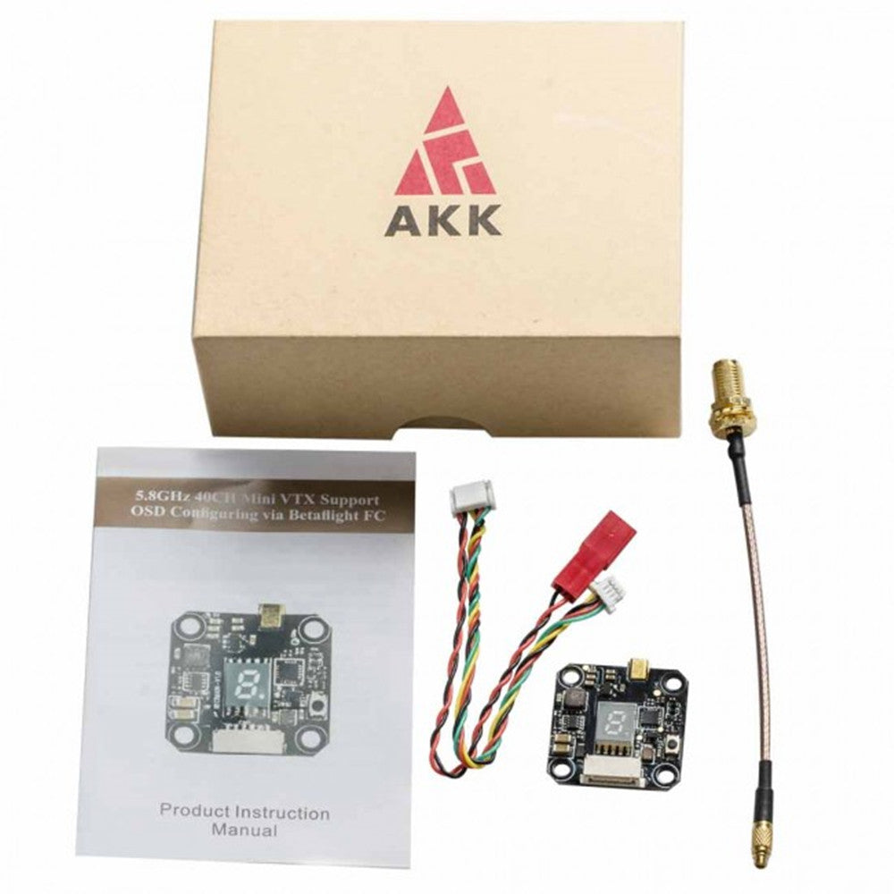 AKK Nano 3 5.8GHz Stackable FPV Transmitter VTX w/ Smart Audio Support OSD for Runcam/Foxeer Micro