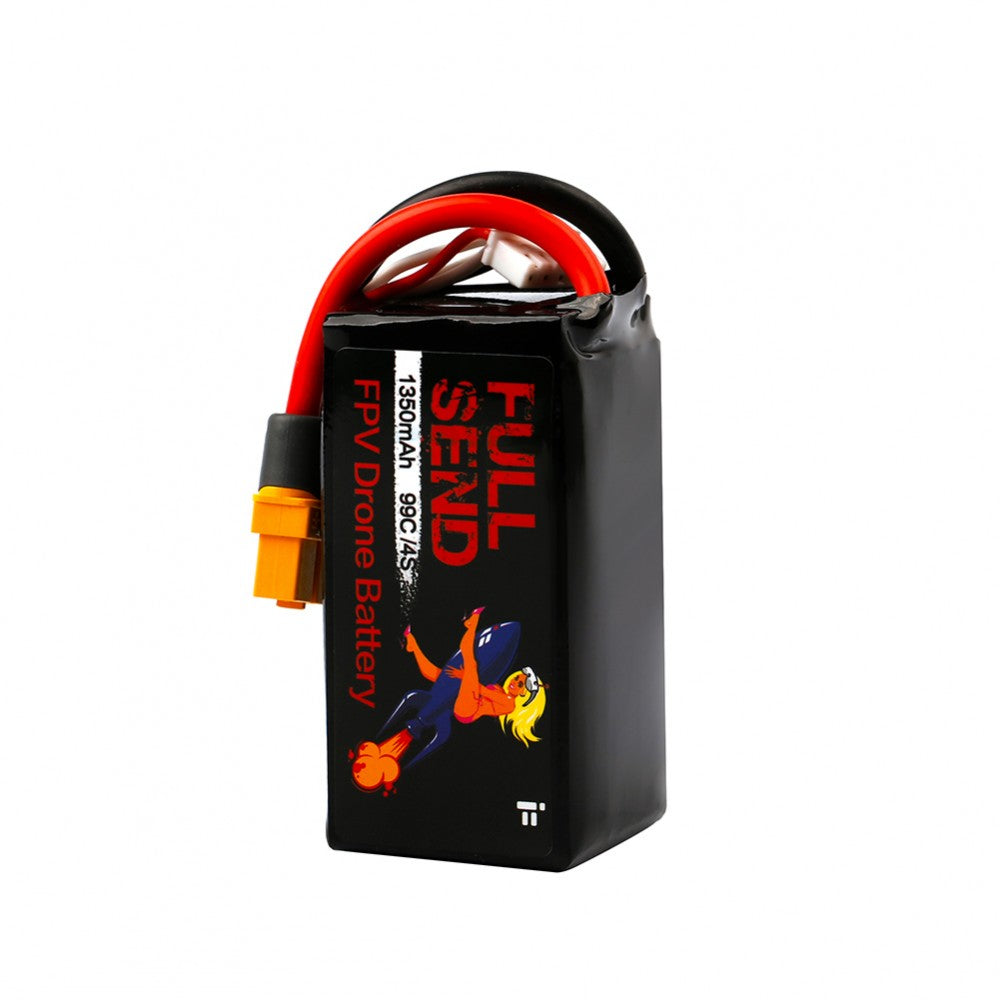 iFlight FullSend 1350mAh 14.8V 4S 99C Lipo Battery XT60 Plug for RC FPV Racing Drone