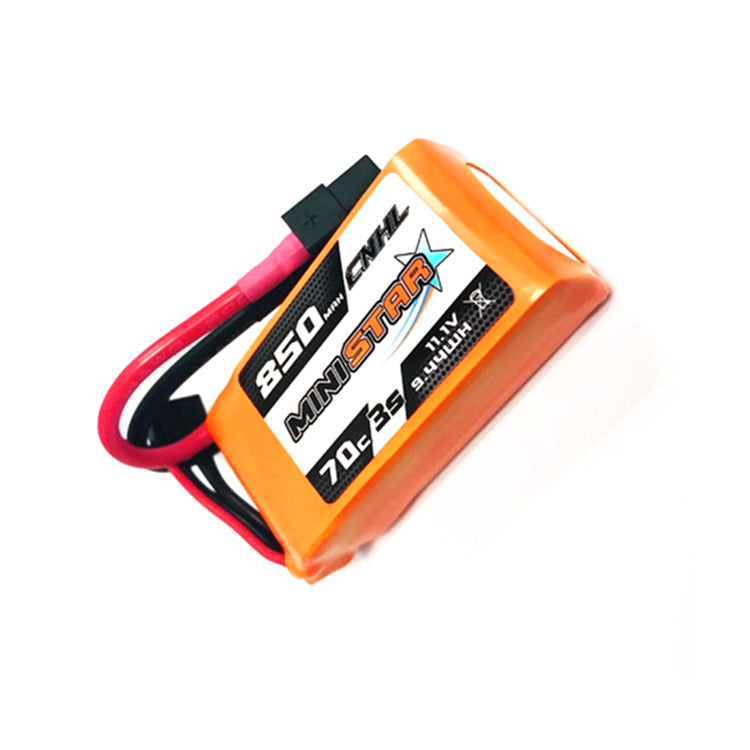CNHL MiniStar 850mAh 11.1V 3S 70C Lipo Battery XT60 Plug for RC Drone FPV Racing