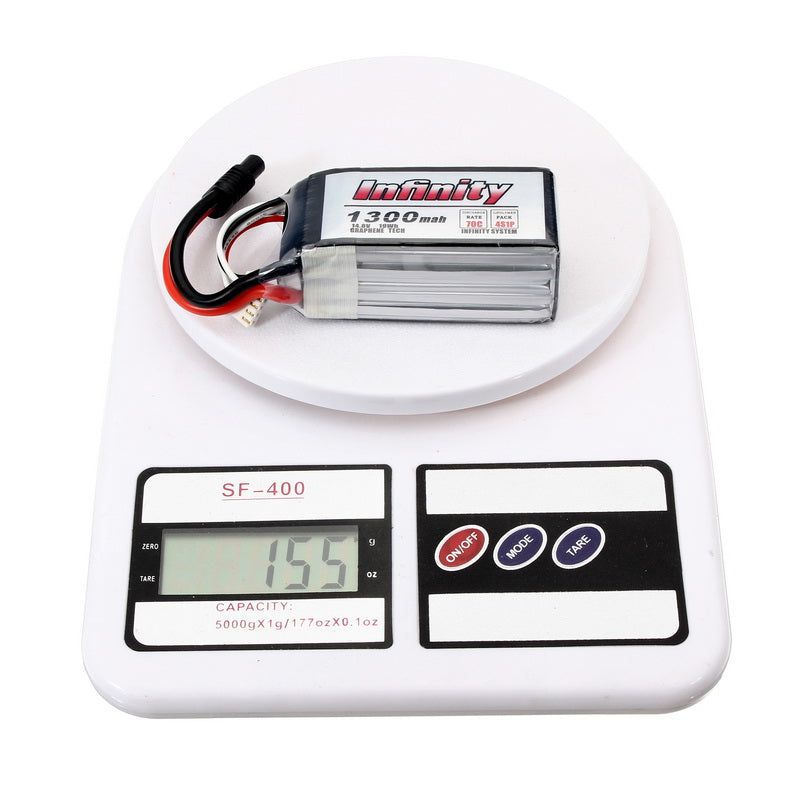 AHTECH Infinity 4S 14.8V 1300mAh 85C Graphene LiPo Battery XT60 SY60 Support 15C Boosting Charger