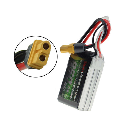 SoloGood 11.1V 850mAh 75C 3S XT60 Plug Lipo Battery for Rc Racing Car Model Parts