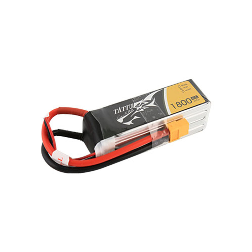 Lipo Battery With XT60 Plug For RC FPV 14.8V 1800mAh 45C 4S1P Gens Tattu