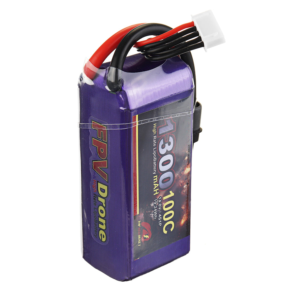 100C 4S Lipo Battery 14.8V 1300mAh MY Red Beret XT60 Plug for Eachine Tyro99 RC Drone