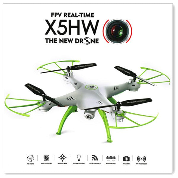 Syma X5HW WIFI FPV With HD Camera Altitude Mode 2.4G 4CH 6Axis RC Drone Quadcopter RTF